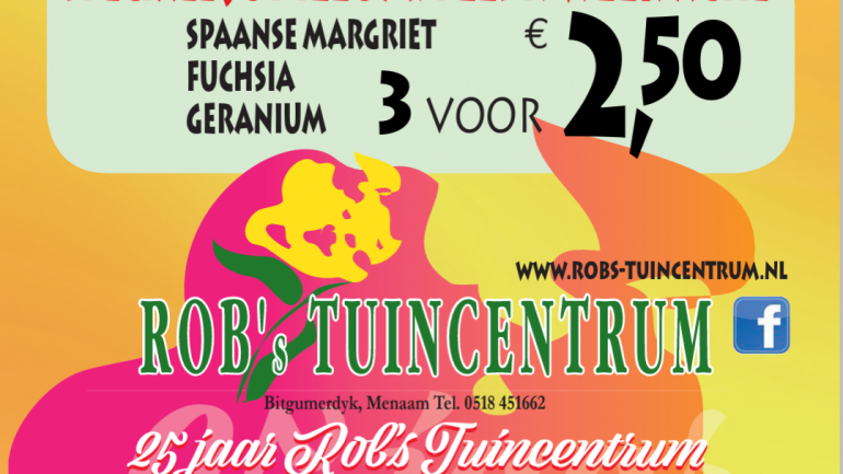 Aanbieding van de week : 25 jaar! Speciale jubileum/feest/weekactie
